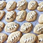 Football Chocolate Chip Cookies
