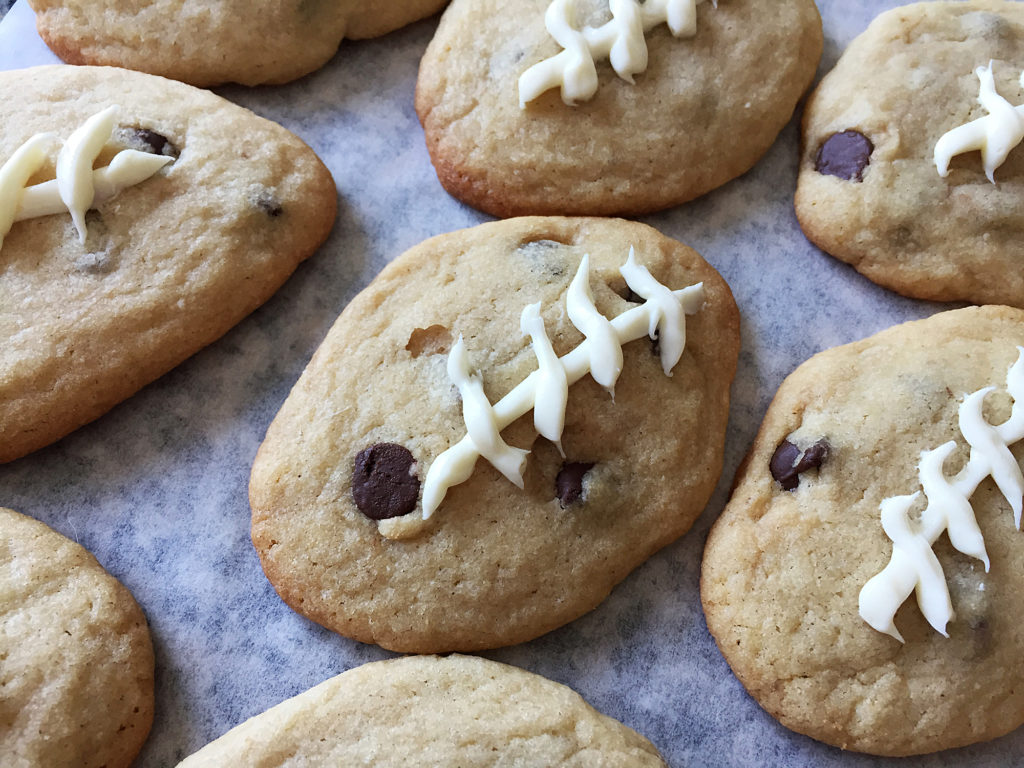 football cookies white laces