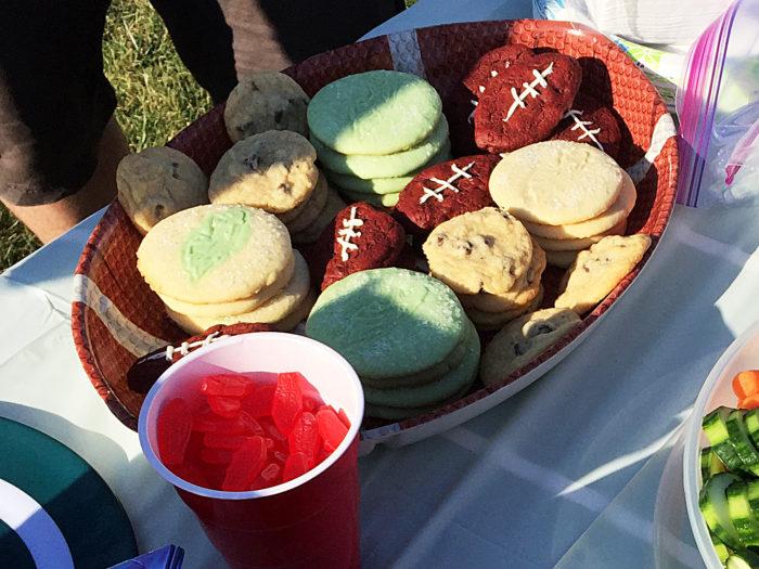 Football Shaped Cookies
