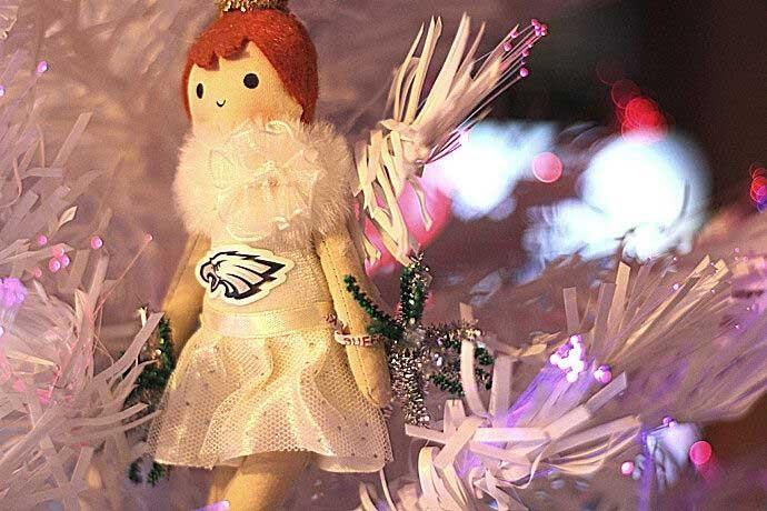 Redhead Philadelphia Eagles Cheerleader Ornament - Eagles Christmas Tree