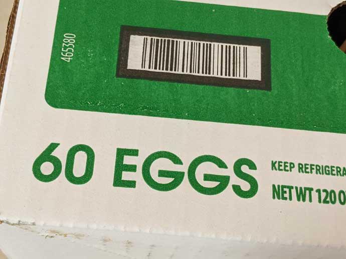 60 Large Eggs - Buy in Bulk