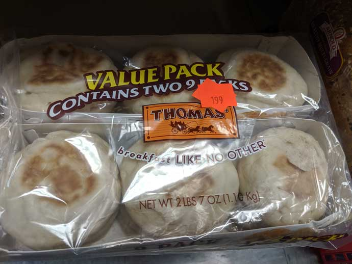Great deal on English Muffins at Bob's Bread Barn in Gilbertsville, PA