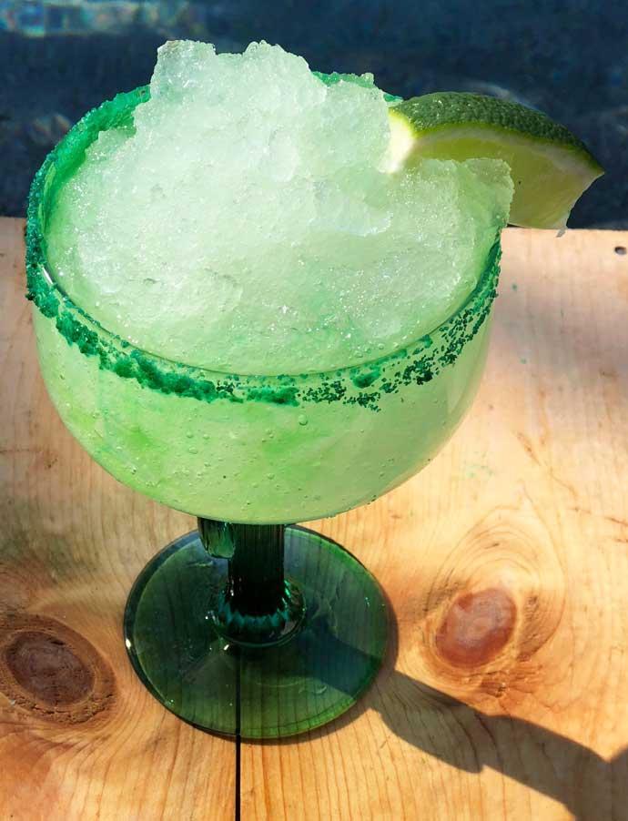 Eagles Green Frozen Margarita - Super Bowl Cocktails