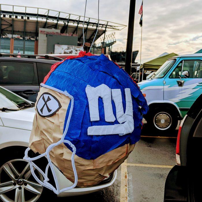 Tailgating Pinatas - New York Giants Pinata at Philadelphia Eagles Lincoln Financial Field Tailgate Party